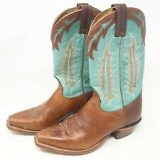 Tony Lama Turquoise Sunset Renegade Western Boots Leather 1074-L Womens Size 7 B