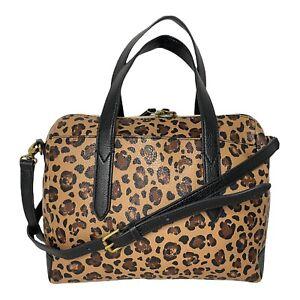 NEW WOT Fossil Sydney Satchel Cheetah Handbag Leopard Print Lightweight Bag 🐆