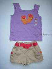 Gymboree NWT PRETTY POSIES Flip Flop Sanals Tank Top Shirt 2 2T 3 3T 4 4T 5 5T