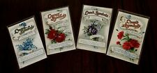 ~Lot of  4~LOVE'S SYMBOLS~Flower Meanings ~Antique~Greeting Postcards-h854