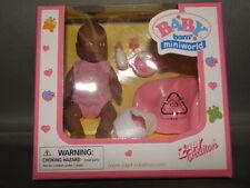 Zapf Creations Baby Born Miniworld ETHNIC Mini Doll Set HARD TO FIND  NEW IN BOX