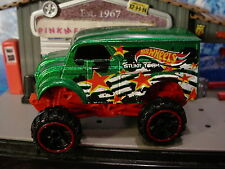 2016 STUNT DEVIL Design MONSTER DAIRY DELIVERY☆Green/Red; or6☆LOOSE Hot Wheels
