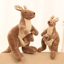 "11"" Kangaroo Stuffed Soft Animal Plush Toy Doll Kid Birthday Xmas Halloween Gift"