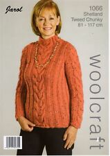 21e3110c4433cb A4 Knitting Pattern for Ladies Womens Chunky Cable Sweater