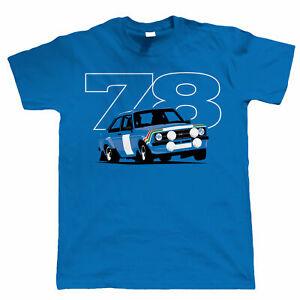 Mk2 Escort RS 78 Rally, Mens Car T-Shirt - Gift for Him Dad