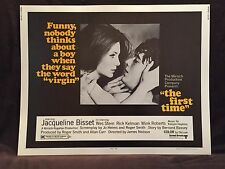 Original 1969 THE FIRST TIME Movie Poster 22 x 28 SEXY JAQUELINE BISSET