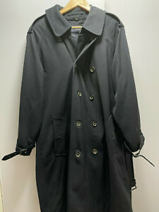 Mens Burberry London trench coat classic navy with removeable wool liner - 42R