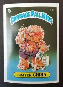 Crater Chris 19b UK Garbage Pail Kids Series 1(1985)Topps~NMT/MINT~Pack Fresh