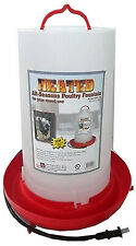Heated Poultry Fountain, Thermostat Control, 100-Watt, 3-Gals.