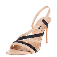 RRP €275 ALICE + OLIVIA Raffia Slingback Sandals Size 40.5 UK 7.5 US 10.5 Heel