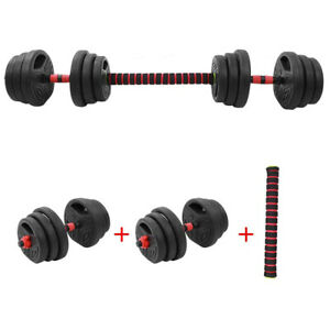 20kg Dumbells Barbell Gym Set with 40cm Connection Rod Hand Weight Dumbbells