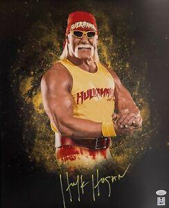 Hulk Hogan Autograph Signed 16x20 Photo - WWF WWE WCW Legend (JSA COA)