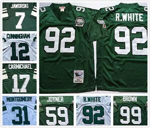 Vintage Philadelphia Eagles Throwback Replica Jersey #7 #12 #17 #31 #59 #92 #99