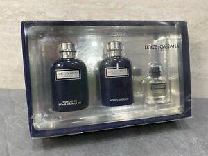 Dolce & Gabbana Pour Homme 3 Piece Set - After Shave Balm + Shower Gel + EDT NIB