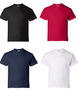 Hanes USA Kids 5480 T' Shirts 100% Cotton~Quality~White Navy Black Red All Sizes