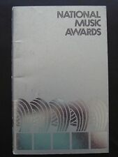 vtg ORIG 1976 FIRST NATIONAL MUSIC AWARDS 50 pp BIOS of all/photos (all genres)