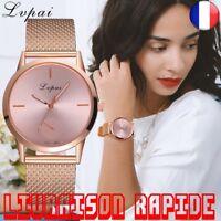 Montre Quartz Bracelet Silicone Analogique Femme Bijoux Mode Heure Cadeau Style