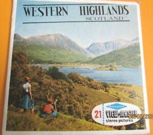 VINTAGE 1960s VIEW-MASTER  REELS  WESTERN HIGHLANDS SCOTLAND