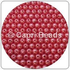 100 x 8mm Hot Pink Acrylic Pearl Beads, Jewellery, Wine Glass Charms