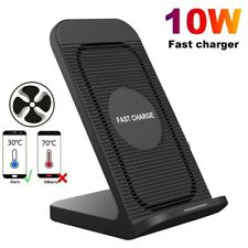 US 10W Qi Wireless Charger Dock Stand Cooling Fan For iPhone 11 XS Samsung S20 +