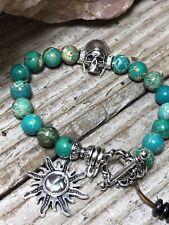 Bracelet Handmade Natural Gemstone  Indian Summer Stretch
