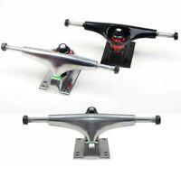 2 PCS Skateboard Trucks Skateboarding Skate Truck Replacement Silver Black Sport