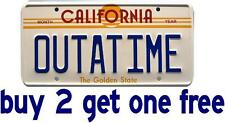 Back to the Future / OUTATIME LICENSE PLATE Bumper Sticker GoGoStickers