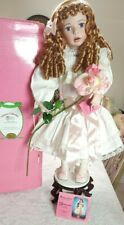 """""""GENEVIEVE"""" BY KATHY SMITH FITZPATRICK, PARADISE GALLERIES PORCELAIN DOLL NEW!"""
