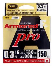 Duel PE line Armored F + Pro 150m 0.3: golden yellow H4080-GY