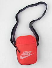 New Nike Heritage Small Shoulder Bag Crossbag Red Adjustable Zip Casual Fashion