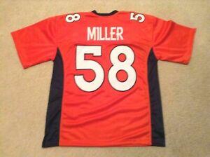UNSIGNED CUSTOM Sewn Stitched Von Miller Orange Jersey - M, L, XL, 2XL