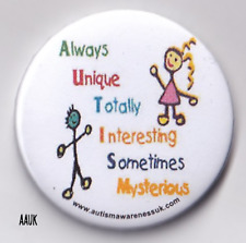 Autism Badge, alway unique , autism description badge ,2.25in