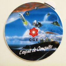 Autocollant Groupe CGE - L'Esprit de conquête - Sticker Année 90  -