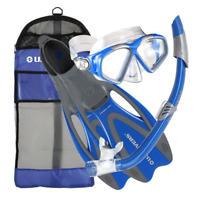 U.S. Divers Cozumel Adult Snorkeling Set with Large Fins, Mask, Snorkel, and Bag