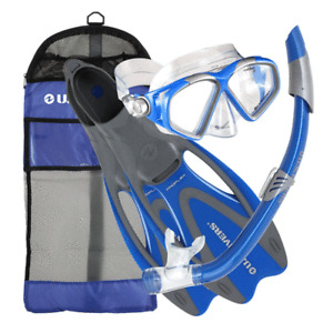 U.S. Divers Cozumel Adult Snorkeling Set with Large Fins, Mask, Snorkel, and Bag