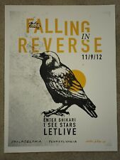 Falling In Reverse poster 11.9.12 The Electric Factory Artist signed and number