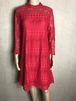 cream - Süßes Kleid in pink Muster Häkeloptik NEU Gr 36 S 1422MA