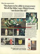 "Shell Motor Oil ""Mick Grant"" Motorcycle 1976 Advert #2915"