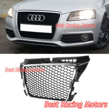 RS3 Style Front Grille (Chrome Frame + Black Mesh) Fits 09-13 Audi A3 S3 8P
