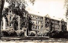 B68/ Orono Maine Me RPPC Real Photo Postcard c1940s University Maine Oak Hall