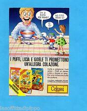 TOP987-PUBBLICITA'/ADVERTISING-1987- COLUSSI PERUGIA BISCOTTI PUFFI/LICIA/GIOELE