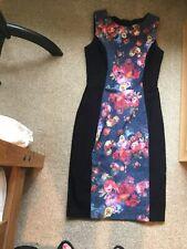 DIVA  Catwalk Pencil Dress Black / Floral