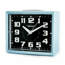 Authentic SEIKO Loud Alarm Clock Blue Sweep Snooze Night LED Luminous QHK024