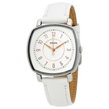 Fossil Idealist White Dial Ladies Leather Watch ES4216