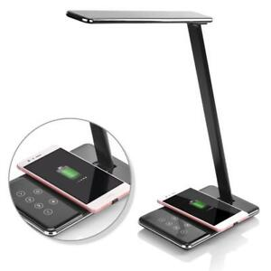 LED Desk Lamp With Qi Wireless Charger For Iphone X  8 8 Plus Fast Charger All