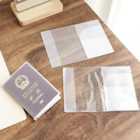 1/3/5Pcs Clear Transparent Passport Cover management ID Card Travel Protector~!~