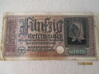 GERMANY,50 MARK banknote ,WWII,