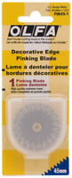 Olfa 45mm Rotary Cutter Decorative Edge Pinking Blade PIB45-1 Stainless 9456