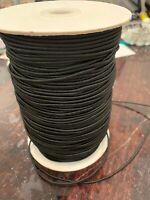 Limited Bundles - 10 Mtrs X 2mm Round Black Hat Elastic