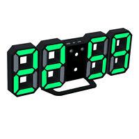 Moderne Wanduhr 3D LED Digital Wanduhr Wall Clock Uhr schwarz und grün